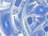 The interesting multilayer texture in cool colors