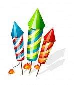 vector icon firecrackers