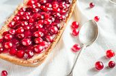 Tart With Jellied Fresh Cranberries
