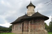 stock photo of suceava  - The Moldovita Monastery is one of Romanian Orthodox monasteries in southern Bucovina - JPG