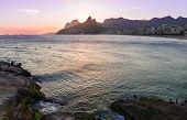 pic of ipanema  - Sunset view of Ipanema and Leblon in Rio de Janeiro - JPG