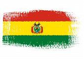 Brushstroke Flag Bolivia
