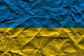 Rumpled Ukrainian Flag