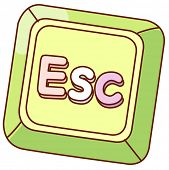 A vector illustration of escape key