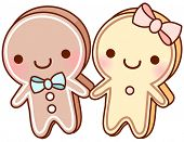 A vector illustration of gingerbread men