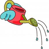 Vector illustration of a watering can