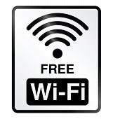 Free WiFi Information Sign
