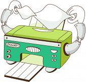 Vector illustration of a printer