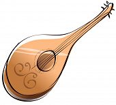 Vector illustration of a mandolin