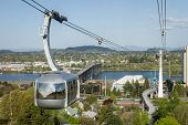 picture of tram  - aerial tram in portland oregon view of the city from the top - JPG