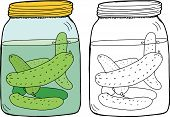 Isolated Dill Pickles