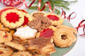 image of christmas cookie  - pile of various christmas cookies and decorations - JPG