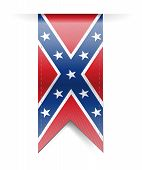 picture of confederation  - confederate flag banner illustration design over a white background - JPG