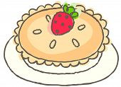 Vector illustration of strawberry pie