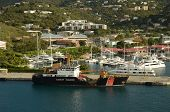 picture of coast guard  - Coast Guard ship near the island of St Thomas US Virgin Islands - JPG
