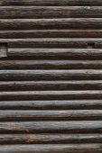 picture of log fence  - Abstract background of old logs - JPG