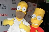 LOS ANGELES - APR 30:  Homer Simpson, Bart Simpson at the NCTA's Chairman's Gala Celebration of Cabl