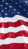 picture of waving american flag  - Part of American waving flag - JPG
