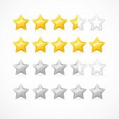 image of status  - Vector Rating stars isolated on white background - JPG