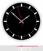 pic of analog clock  - Illustration of a modern clock face  - JPG