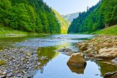 foto of pieniny  - Stone in The Dunajec River Gorge - JPG
