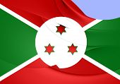 picture of burundi  - 3D Flag of the Burundi - JPG