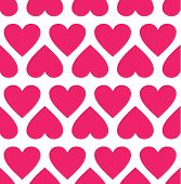 Seamless pattern with hearts.Vector illustration