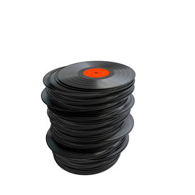 picture of lps  - Stack of vinyl records isolated on a white background - JPG