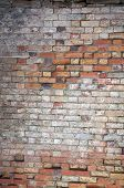 Weathered brick wall background, home related poster