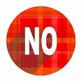 no red flat icon isolated