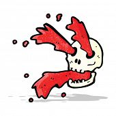 picture of squirt  - gross blood squirting skull cartoon - JPG