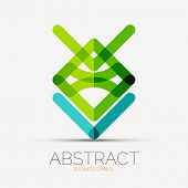 Abstract line composition icon, company logo, business symbol concept