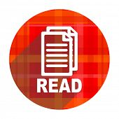 read red flat icon isolated