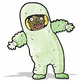 cartoon man in protective clothing