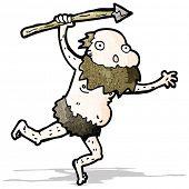 cartoon tribal man