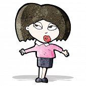 cartoon woman making a choice