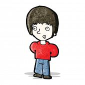 cartoon whistling boy