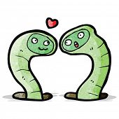 cartoon snakes in love