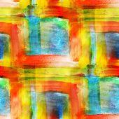 art blue, red, yellow art avant-garde background hand paint seam