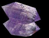 Amethyst Crystal On Black Glass