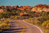 Road in american prairie