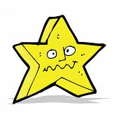 cartoon star with funny face