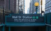 Subway Entrance, Wall Street, New York