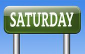 saturday road sign event calendar or meeting schedule