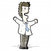 cartoon angry boss shouting