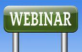 webinar online seminar or internet workshop web conference