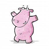 cartoon pink hippo