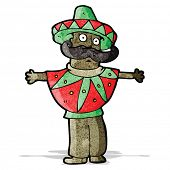 cartoon mexican man