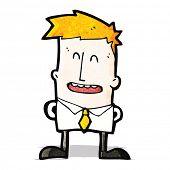 happy ginger boy cartoon