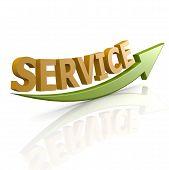 Green Arrow  Service Word